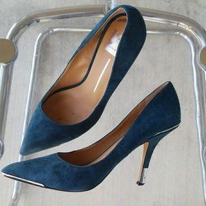Dolce Vita Turquoise Velvet Pumos Sz 8